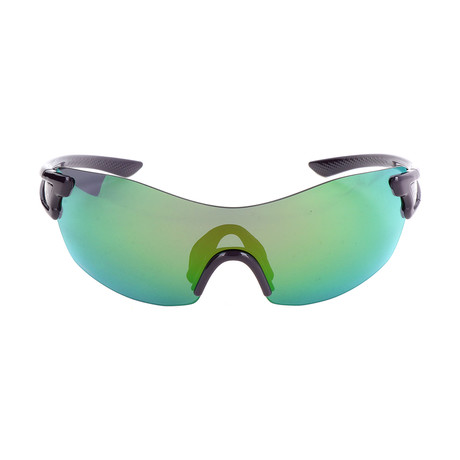 Women's Pivlock Sunglasses // Black + Green