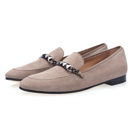 Selman Suede Loafers // Taupe (Euro: 39)