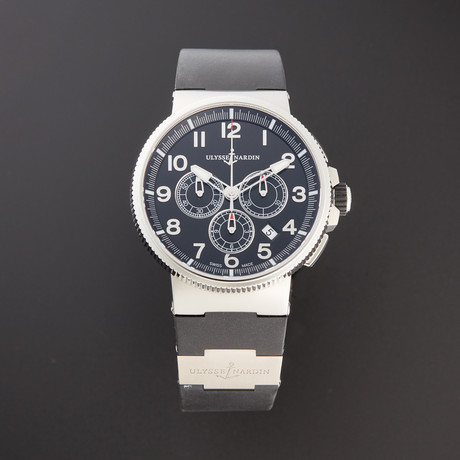 Ulysse Nardin Marine Chronograph Manufacture Automatic // 1503-150-3/62 // 3031952 // Pre-Owned