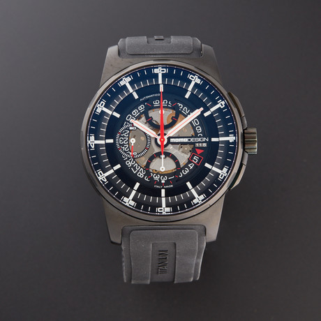 MOMO Design Chronograph Automatic // MD276-BK-RB-04BK // Pre-Owned