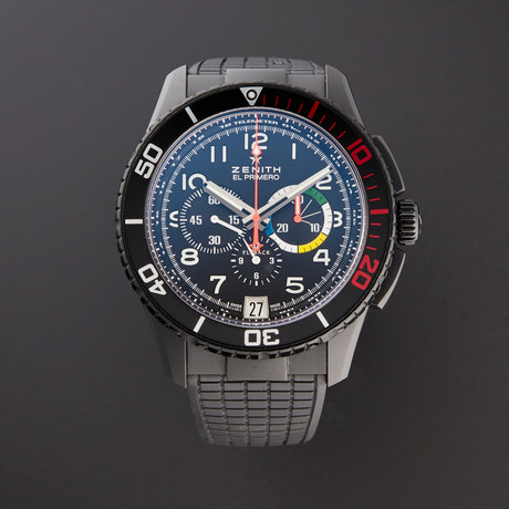 Zenith El Primero Stratos Flyback Chronograph Automatic // 24.2063.405/21.R515 // Pre-Owned