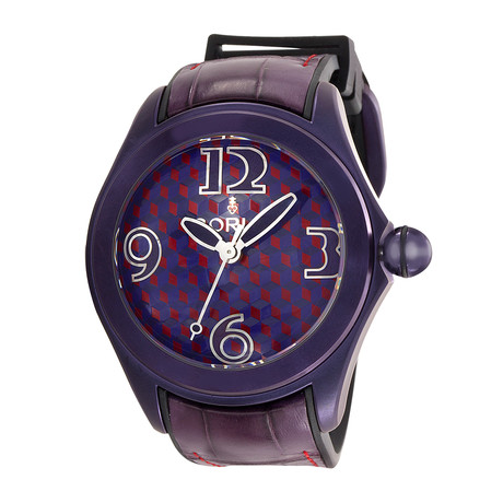 Corum Bubble Purple Automatic // 082.413.98/0210 VA02 // New