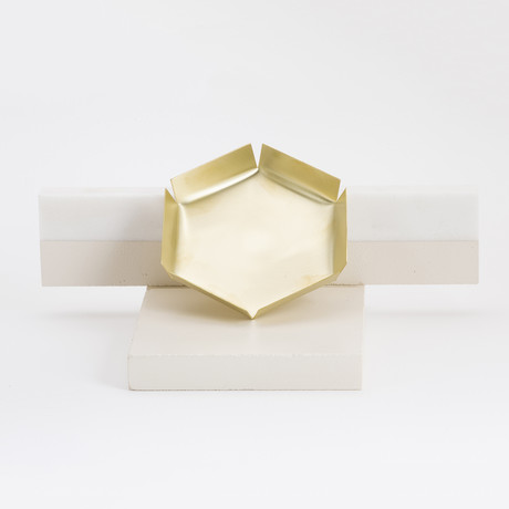 Polygon Bronze Tray