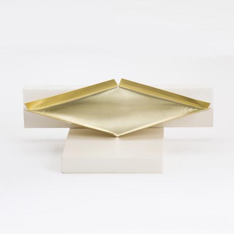 Rhombus Bronze Tray