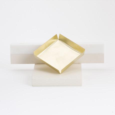 Tetragon Bronze Tray