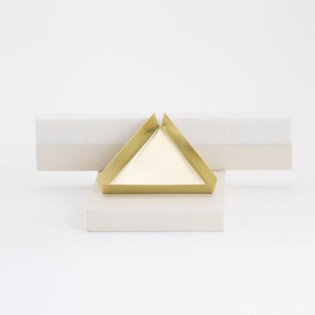 Triangle Bronze Tray