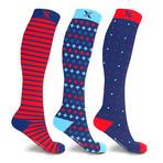 Dynamic Knee High Compression Socks // 3-Pairs (Small / Medium)