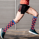 Fun Patterned Compression Socks // 3-Pairs (Small / Medium)