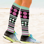Jumble Mumble Knee High Compression Socks // 3-Pairs (Small / Medium)