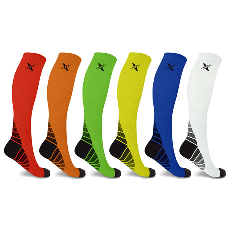 Performance Support Compression Socks // 6-Pairs (Small / Medium)