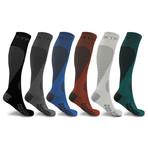 Targeted Knee-High Compression Socks // 6-Pairs (Small / Medium)