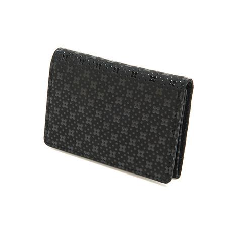 Business Card Case // Black Flower Lattice