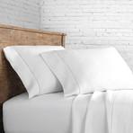Linen Sheet Set Ladder Hem // White (Twin)