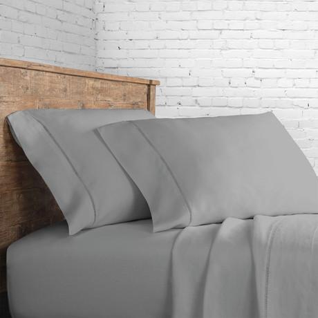 Linen Sheet Set Ladder Hem // Grey (Full)