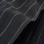 Linen Yarn Dyed Sheet Set // Black Stripe (Queen)