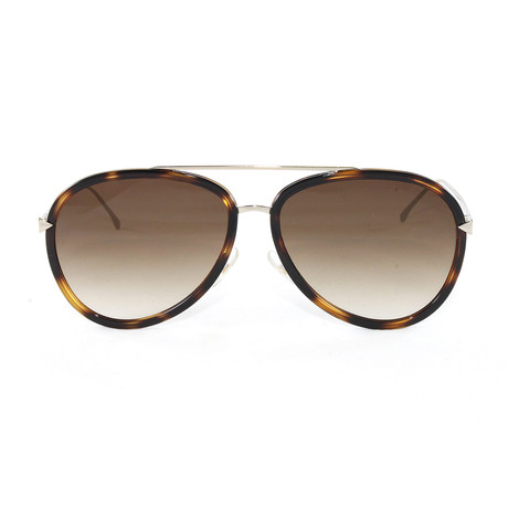 FF0155S Sunglasses // Dark Havana + Gold