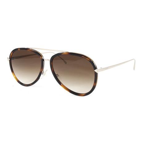 Fendi // Men's FF0155S Sunglasses // Dark Havana + Gold