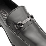 Leather Penny Loafer Shoes // Black (US: 12)