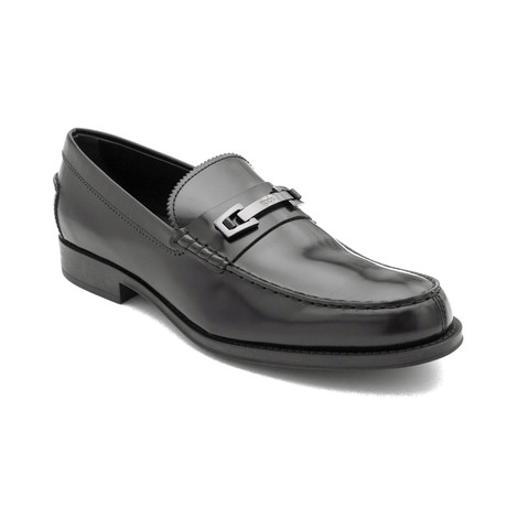 Leather Penny Loafer Shoes // Black (US: 7)