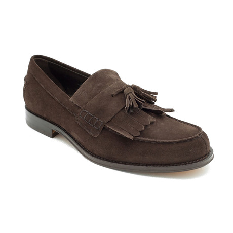 Suede Penny Loafer Shoes // Brown (US: 12.5)