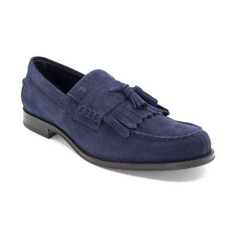 Suede Penny Loafer Shoes V1 // Navy Blue (US: 9)