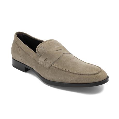 Men's Suede Penny Loafer Shoes // Beige (US: 8)