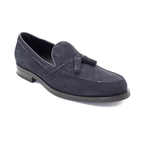 Suede Loafer Shoes // Navy Blue (US: 9)