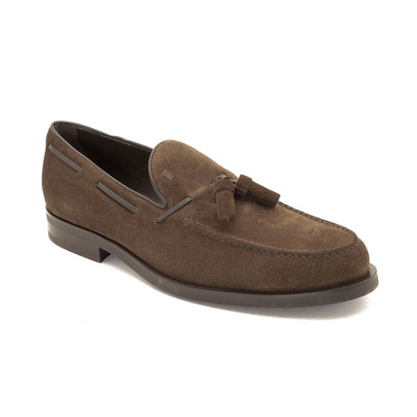 Suede Loafer Shoes // Brown (US: 8)