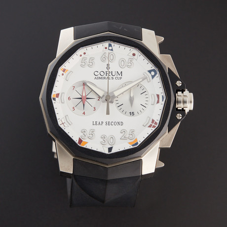 Corum Admiral's Cup Leap Second Chronograph Automatic // 895.931.06/0371 AA92 // Unworn