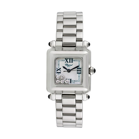 Chopard Ladies Happy Sport Square Quartz // 27/8893/23W // Pre-Owned