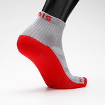 High Performance Quarter Sock // Gray (L)