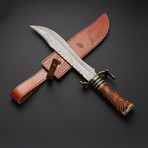 Damascus Steel Bowie Knife // BW-S01