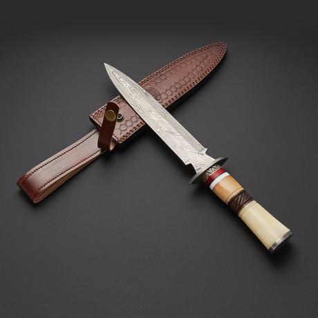 Damascus Dagger Knife // DGR-S01