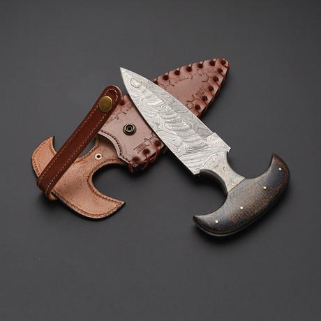 Damascus Push Dagger Knife // PD-S01