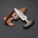 Damascus Push Dagger Knife // PD-S01