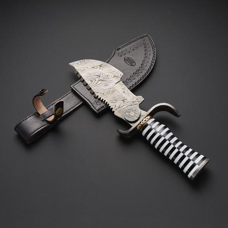 Damascus Tracker Knife // TRK-S01