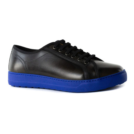 Atticus Sneakers // Black + Blue (UK: 5.5)