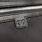 Nylon Duffle Bag + Leather Trim // Black