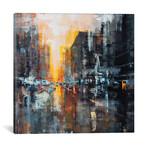 """Hong Kong Sun Rise I // Martin Koester (12""""W x 12""""H x 0.75""""D)"""
