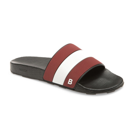 Sleter Rubber Slides // Black + Red + White (US: 8)