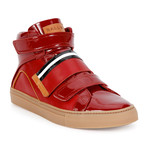 Herick Leather High-Top Sneakers // Red (US: 7.5)