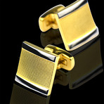 Cufflinks + Gift Box // Gold Squares