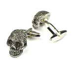 Cufflinks + Gift Box // Silver Skulls