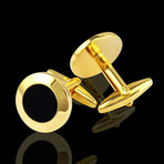 Cufflinks + Gift Box // Gold + Black