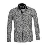 Amedeo Exclusive // Reversible Cuff French Cuff Shirt I // White + Black Paisley (S)