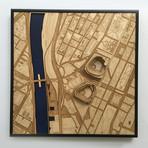 "New York, New York // Wood (12"" x 12"")"