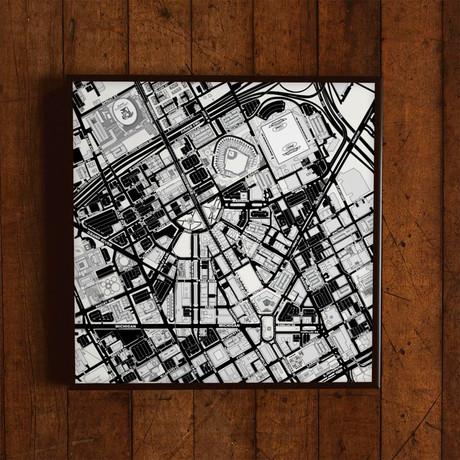 "Detroit, Michigan // Print (12"" x 12"")"