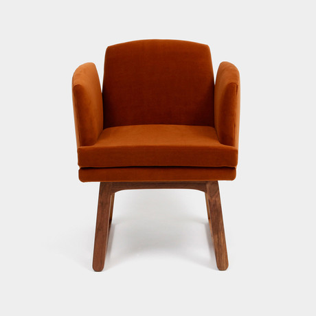 Allison Chair // Aged Velvet (Peacock)