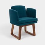 Allison Chair // Aged Velvet (Peacock)