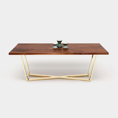 GAX X 36 Table // Walnut + Brass